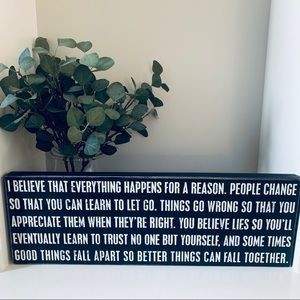 Other - Wooden Sign | Everything Happens for a Reason